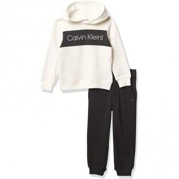 156.16元美国直邮!Calvin Klein 男孩 2 件慢跑套装(多款)