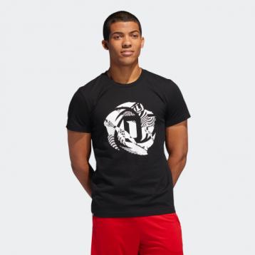 81.90元包邮!adidas阿迪达斯 ROSE LOGO TEE 德里克·罗斯球迷篮球短袖