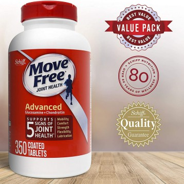 206.76元美国直邮【350粒大瓶装】Move Free 益节 氨基葡萄糖和软骨素咀嚼片(6个月)