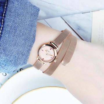 1049元【缠绕式表带】FURLA 芙拉 VITTORIA系列 女士石英手表