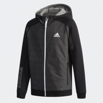 239元包邮【双面穿】Adidas 阿迪达斯 YB RV DENIM TOP 儿童双面连帽训练夹克(128cm/140cm)