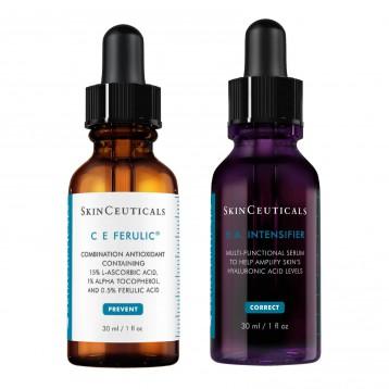 US$227美元【持平黑五】SkinCeuticals 修丽可 CE抗氧化精华+紫米玻色因抗衰老精华套装+送小样