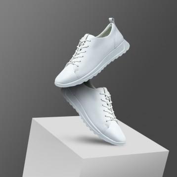 ECCO 爱步 Flexure Runner 随溢系列 女士系带真皮运动鞋 亚马逊海外购