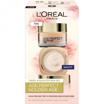 107.51元德国直邮【新低】L'Oréal Paris 巴黎欧莱雅 Golden Age金致臻颜奢养牡丹保湿日夜面霜套装(55岁+)