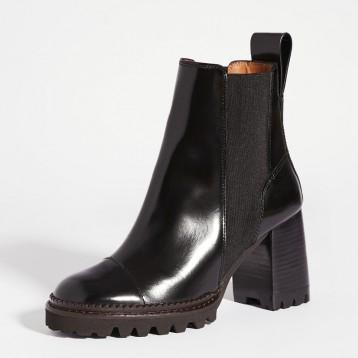 $311.25美金【免直郵】See by Chloe Chels Mall 溝紋鞋底靴子