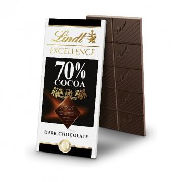 黑五新低!Lindt 瑞士莲 70%可可 特级黑巧克力100g*12排
