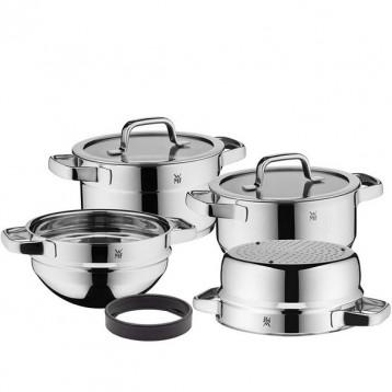 WMF 福腾宝 Compact Cuisine系列 798046380 不锈钢锅具4件套