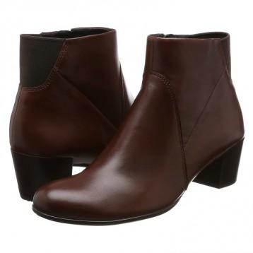 ECCO 爱步 Shape 35型塑系列 女士拉链中跟牛皮短靴 亚马逊海外购
