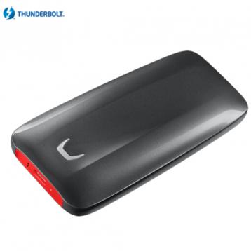 双12值得买的苹果伴侣!三星(SAMSUNG) 500GB Thunderbolt™ 3 雷电3接口 移动硬盘X5 ¥1599