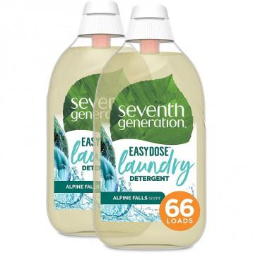 220.76元美国直邮!Seventh Generation 七世代 超浓缩植物洗衣液-Alpine Falls(66 次)*2 瓶组