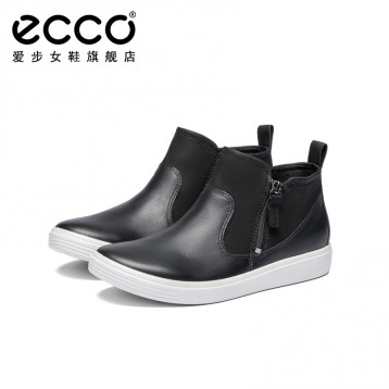 Ecco 爱步 Soft Classic柔酷系列 女士侧拉链短靴 亚马逊海外购