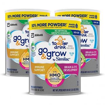 394.97元美国直邮!Similac美版雅培 Go&Grow心美力婴幼儿配方奶粉1.02kg*3罐(3段)