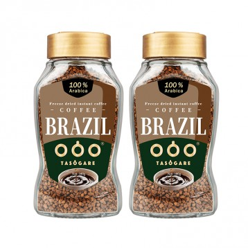 59元包邮【冻干黑咖啡】隅田川 巴西进口速溶黑咖啡 意式冻干纯咖啡粉100g*2瓶