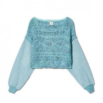 1567元包邮【街头潮牌】FREE PEOPLE 叠层设计粗织毛衣