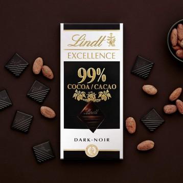 316.36元英国直邮【0蔗糖】Lindt 瑞士莲 99% 黑巧克力 50克*18块