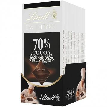 Lindt 瑞士莲 Excellence系列 70%可可黑巧克力100g*12块