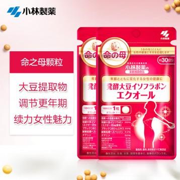 改善更年期生理期保护卵巢:日本小林制药 命之母大豆异黄酮30粒*2包