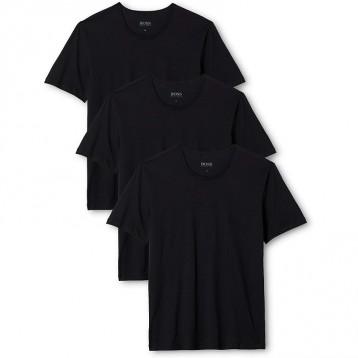 刺绣LOGO:HUGO BOSS 雨果·博斯 男士圆领打底T恤3件组(多配色)