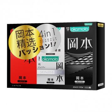 4in1套裝:岡本Skin系列 超潤滑激薄避孕套(20只/23只)【貓超單件包郵】