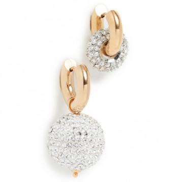 法国制作:Timeless Pearly水晶圈式耳环 免费直邮