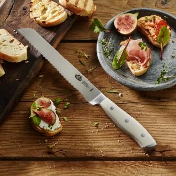 130年历史的意大利家族品牌:Ballarini 巴拉利尼 18806-201-0 Savuto Bianco 面包刀20 厘米