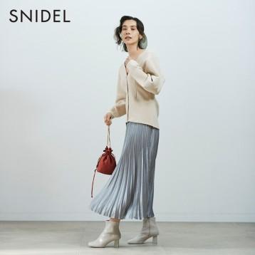 SNIDEL SWNT205091 女士V领针织毛衣开衫 亚马逊海外购