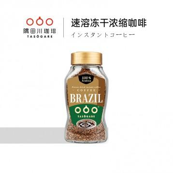 冻干黑咖啡:隅田川 巴西进口速溶黑咖啡 意式冻干纯咖啡粉100g