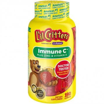 L'il Critters 丽贵 Immune C Plus Zinc and Echinacea 维生素C加锌加紫锥菊软糖 190粒