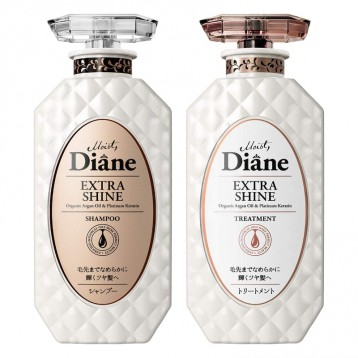 濃密泡沫:Moist Diane 黛絲恩 Prefect Beauty Extra Shine 亮澤洗護套裝450ml×2