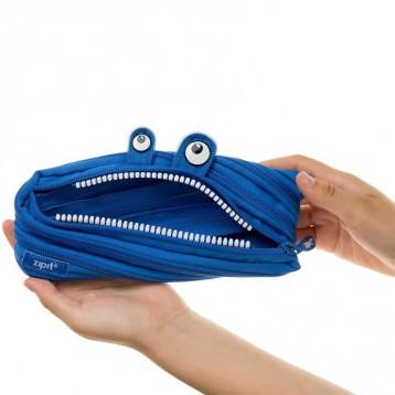 搞怪可爱还能变身【限时好价】ZIPIT 怪兽铅笔袋, 皇家蓝色