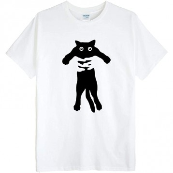 ゴジラ千 (哥斯拉千) GODZILLASENN 猫咪图案男士T恤(多款多色)