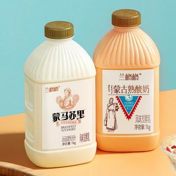 蒙古特產 蘭格格 草原酪酸奶*2斤+炭燒熟酸奶 *2斤(4斤兩口味任組)