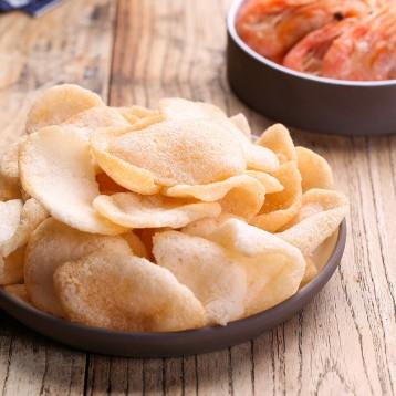 35%的鮮蝦成分【印尼特產】啪啪通蝦片 papatonk 蝦條85g*4包