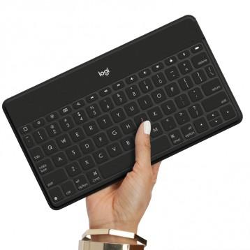 适用多系统手机平板电脑:Logitech 罗技 Keys-To-Go无线蓝牙键盘