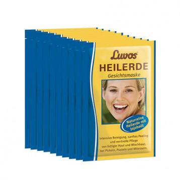 德国有机美妆:Luvos 天然药泥面膜  荷荷巴油祛痘净化清洁面膜15g*10片装