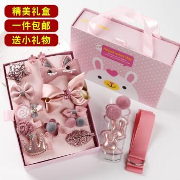小姑娘發飾禮盒:韓朵佳人 韓國兒童發飾禮盒18件套裝(多款)