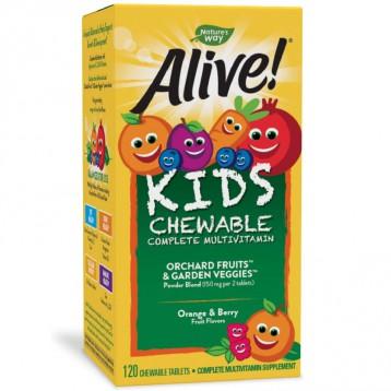 0香料0防腐 果蔬提取:Nature's Way 澳萃維 兒童復合維生素120粒咀嚼片(2歲+)