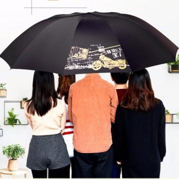 超大大号防风雨伞:红叶伞五人 超大加粗加固雨伞伞下直径130cm