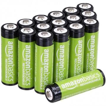 可充電電池:AmazonBasics 亞馬遜倍思 AA 型(5號) 鎳氫預充電池2000mAh*16節