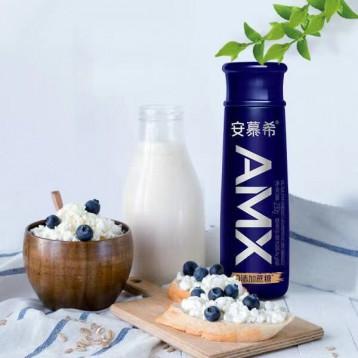 寶藏酸奶小黑瓶:伊利 安慕希AMX 膳食纖維0蔗糖 高端原味酸奶230g*10盒/箱