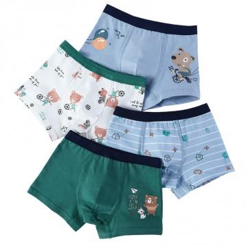 不勒小弟弟:猫人 儿童内裤 男童纯棉平角内裤4条组(110-170cm)