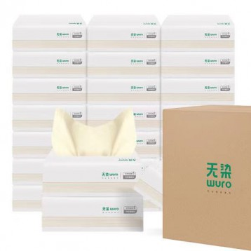 无染(wuro) 本色抽纸3层100抽*30包箱装 S码小包抽纸