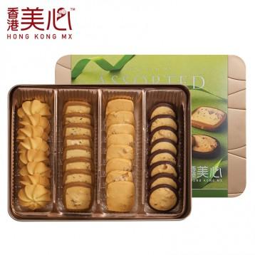 中国香港美心 松脆曲奇饼干 铁盒港式黄油坚果曲奇(两款可选)