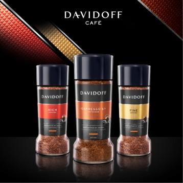 无脂无蔗糖添加:Davidoff 大卫杜夫 德国进口冻干速溶黑咖啡粉100g(3款任选)