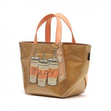 时尚潮牌:BAPY® Logo印花叠层手提包