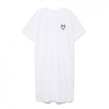日本设计师品牌:Roarguns 彩色双枪印花T恤连衣裙(黑/白)