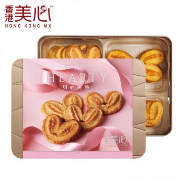 甜心美意【淡季新低好價】香港美心 4口味蝴蝶酥禮盒(原味/榛子/楓糖/椰香)