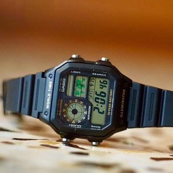复古电子表【畅销单品】CASIO 卡西欧 Collection AE-1200WH 男士手表