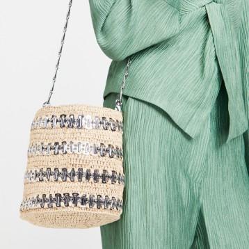 西班牙设计师品牌:Paco Rabanne 1969 R 草编水桶包