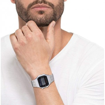 复古电子表:Casio 卡西欧 中性手表 A168WEM-1EF